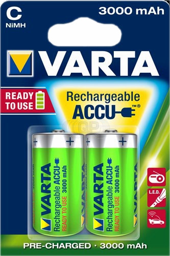 Rechargeable batteries C-Baby 3000 mAh NiMH Varta 2 pieces