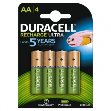 Rechargeable batteries AA 2500 mAh NiMH Duracell always ready 4 pieces