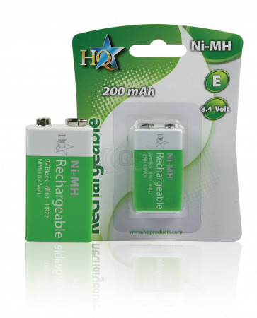 Rechargeable batteries 9 Volt 200 mAh HQ