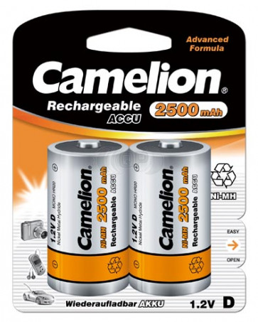Rechargeable batteries Mono D 10.000 mAh Camelion 2 pieces