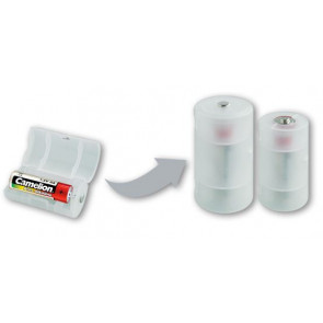 Battery adapter AA to mono D Camelion 2 pieces