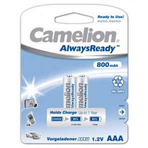 Rechargeable batteriesj AAA 800 mAh Camelion always ready 4 pieces
