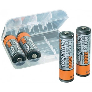 Rechargeable batteries AA 2500 mAh Camelion + storage system 4 pieces