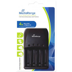 Mediarange 191 Super Fast battery Charger + 4 batteries