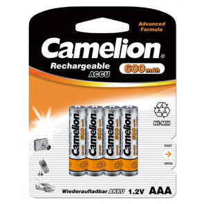 Rechargeable batteries AAA 600 mAh Camelion 4 pieces