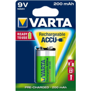 Rechargeable batteries 9 Volt 200 mAh NiMH Varta