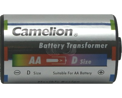battery adapter aa to mono d camelion 2 pieces. Black Bedroom Furniture Sets. Home Design Ideas